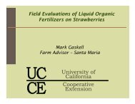 Field Evaluations of Liquid Organic Fertilizers on Strawberries, Mark ...