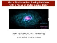 The THINGS and HERACLES View on Star Formation and the ISM ...