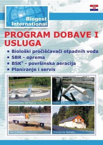 PROGRAM DOBAVE I USLUGA - Biogest International® GmbH