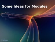 Some Ideas for Modules - NetBeans Wiki
