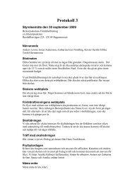 Protokoll 3 - Föräldraföreningen