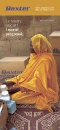 Le nostre priorità. i nostri progressi. - Baxter Sustainability Report