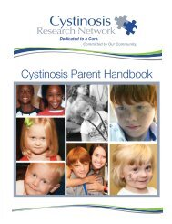 Cystinosis Parent Handbook Final - Cystinosis Research Network