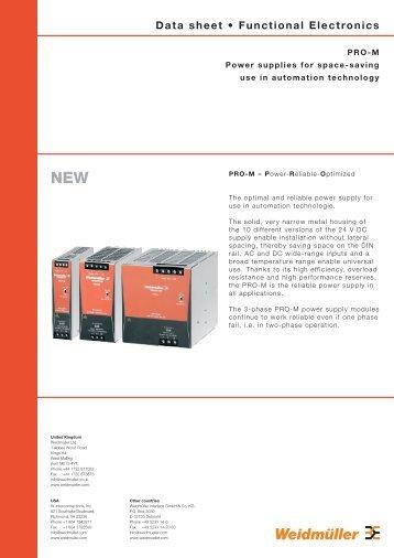Data sheet • Functional Electronics