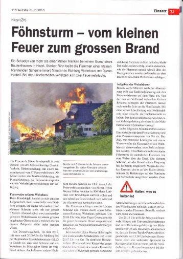 Feuer zum grossen Brand