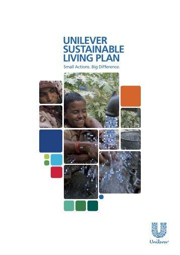 Unilever Sustainable Living Plan (November 2010)