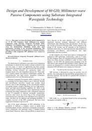 Design and Development of 60 GHz Millimeter-wave Passive ...