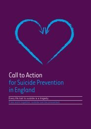 Call to Action for Suicide Prevention in England - Samaritans