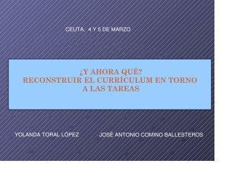 Currículum y tareas. - CPR Ceuta