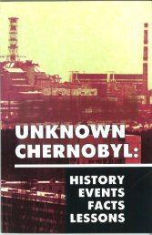 Unknown Chernobyl: History, Events, Facts, Lessons - Global Green ...