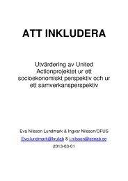 Utvärdering av United Action - Östhammars kommun