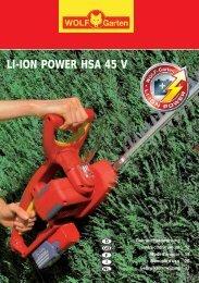 li-ion power hsa 45 v li-ion power hsa 45 v - Kulow GmbH