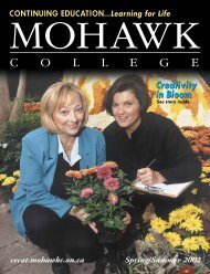 Mohawk College Spring/Summer 2002 CE Catalogue