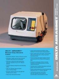 DELTA™ ABRASIMET® Manual Chop Abrasive Cutter