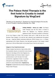 The Palace Hotel Therapia is the first hotel in Croatia to install ...