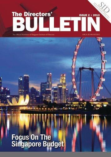 Focus On The Singapore Budget - Singapore Institute of Directors