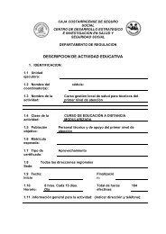 DESCRIPCION DE ACTIVIDAD EDUCATIVA - CENDEISSS