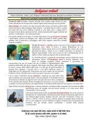 Religioni tribali - Benvenuti nel sito dei ragazzi della Scuola Media!