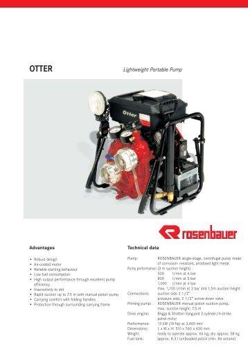 OTTER lightweight portable pump