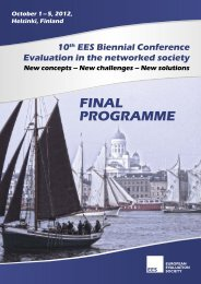 FINAL PROGRAMME - 10th EES Biennial Conference