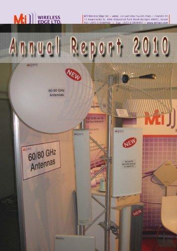 Annual Report 2010 - MTI Wireless Edge Ltd.