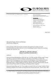Programm und Buchung - EUROJURIS International