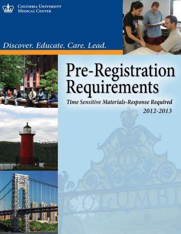 Student Health Service Pre-Registration Brochure - Columbia ...