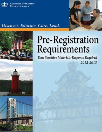 Student Health Service Pre-Registration Brochure - Columbia ...