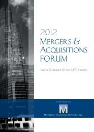 Mergers & Acquisitions - Plante Moran