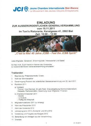 JG' Jeune Chambre Internationale Biel-Bienne - Junior Chamber ...
