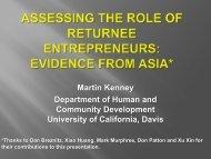 Assessing the Role of Returnee Entrepreneurs: Evidence from Asia