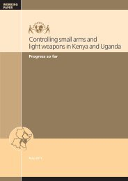 Controlling small arms and light weapons in Kenya and ... - Saferworld
