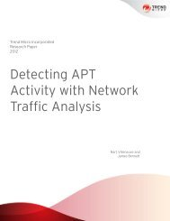 Detecting APT Activity with Network Traffic Analysis - Trend Micro