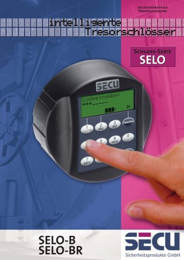 Prospekt SELO-B-BR_D - SECU Sicherheitsprodukte GmbH
