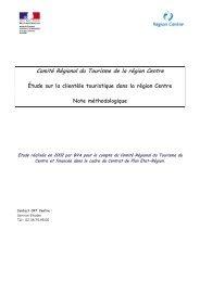 Note méthodologique de l'étude sur les clientèles touristiques en ...