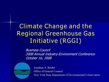 Climate Change and the Regional Greenhouse Gas Initiative (RGGI)