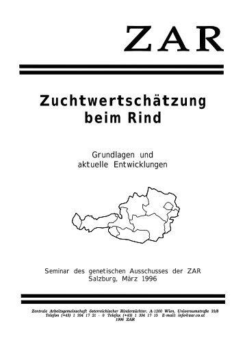 Zuchtwertschätzung beim Rind - Zentrale Arbeitsgemeinschaft ...