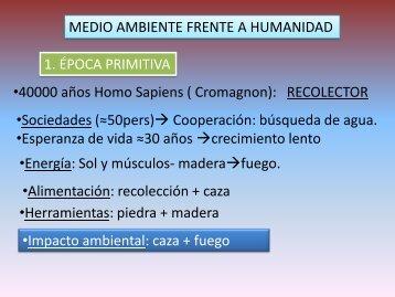 Medio Ambiente - Humanidad