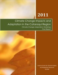 Climate Change Impacts and Adaptation in the Cataraqui Region