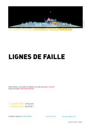 LIGNES DE FAILLE - Arcade PACA