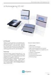 LK Rumsreglering ICS-W - LK Systems AB
