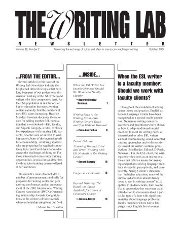 29.2 - The Writing Lab Newsletter