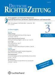 Inhaltsverzeichnis 3/2012 - Deutsche Richterzeitung