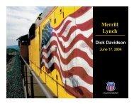 Merrill Lynch - Union Pacific