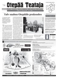 Talv saabus Otepääle praksudes - Otepää vald