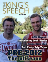 1 1 November 2011   The Kings Speech - Pembroke Kings
