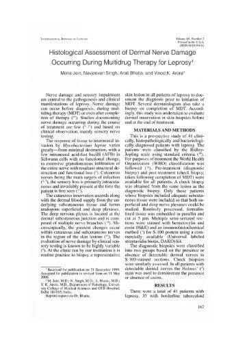 Histological Assessment of Dermal Nerve Damage Occurring During ...