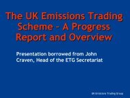 The UK Emissions Trading Scheme – A Progress Report and ...