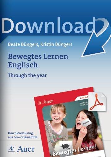 Bewegtes Lernen Englisch