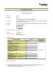 Ydeevnedeklaration (DoP) - Weber
